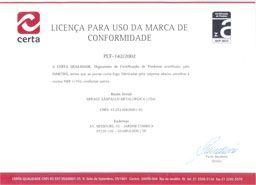 Certificado Certa/Inmetro porta corta-fogo