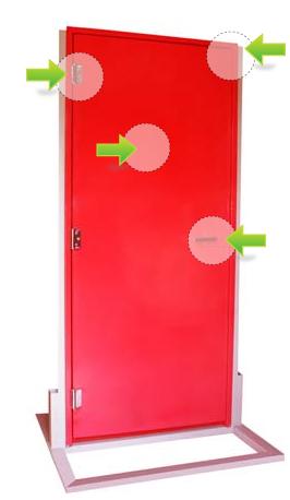 Conj. porta corta-fogo c/ fechadura de sobrepor sem chave